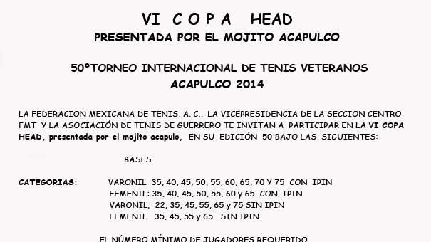 50 TORNEO DE ACAPULCO VI COPA HEAD