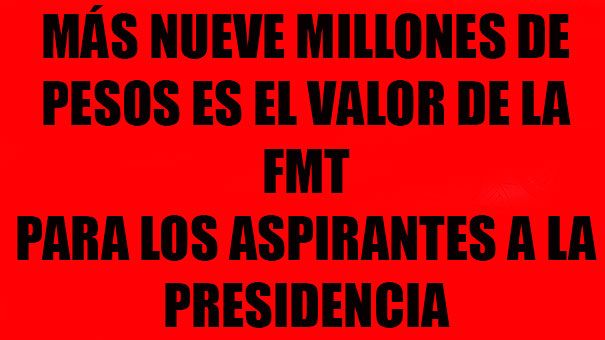 MILLONES DE PESOS ESPERAN AL PRÓXIMO PRESIDENTE DE LA FMT