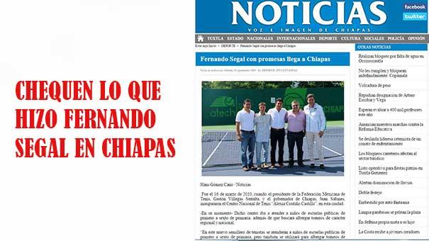 EN CHIAPAS SE DICE: FERNANDO SEGAL CON PROMESAS LLEGA A CHIAPAS