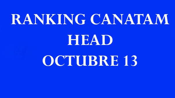 RANKING CANATAM HEAD 13 DE OCTUBRE