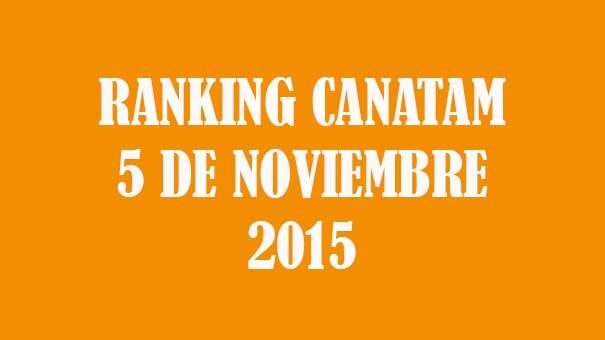 RANKING CANATAM 5 DE NOVIEMBRE