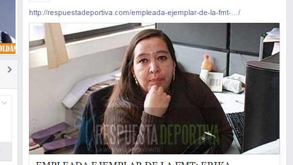 ERIKA CARVAJAL CON BUENA RESPUESTA EN EL FACEBOOK