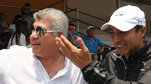 TOÑO FLORES RECIBIÓ A CHEMA GALINDO EN LA ASUNCIÓN