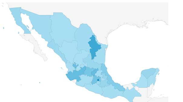 DISTRITO FEDERAL, NUEVO LEÓN, JALISCO Y ESTADO DE MÉXICO, LAS ENTIDADES CON MAYOR AUDIENCIA DE RD