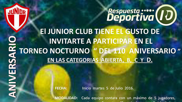JUNIOR CLUB Y SU GRAN TORNEO NOCTURNO