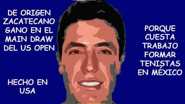 SE LLAMA ERNESTO ESCOBEDO, SU SANGRE ES MEXICANA Y GANÓ UNA RONDA DE MAIN DRAW EN EL US OPEN.