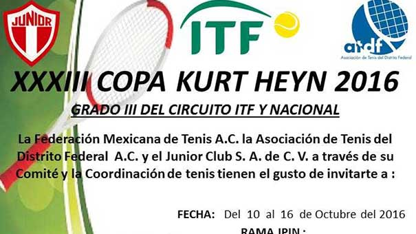 XXXIII COPA KURT HEYN EN EL JUNIOR CLUB