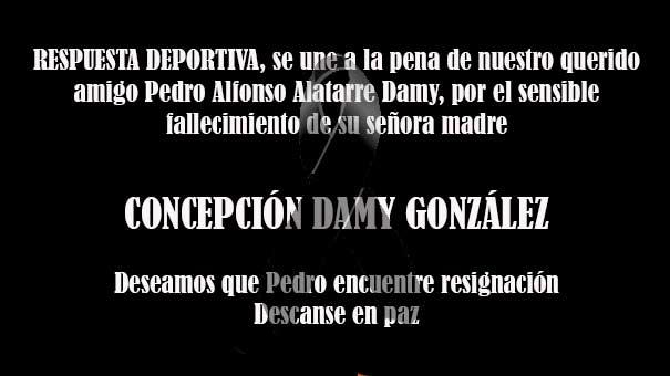 TENISTAS FALLECIDOS: CONCHITA DAMY GONZÁLEZ, DESCANSE EN PAZ