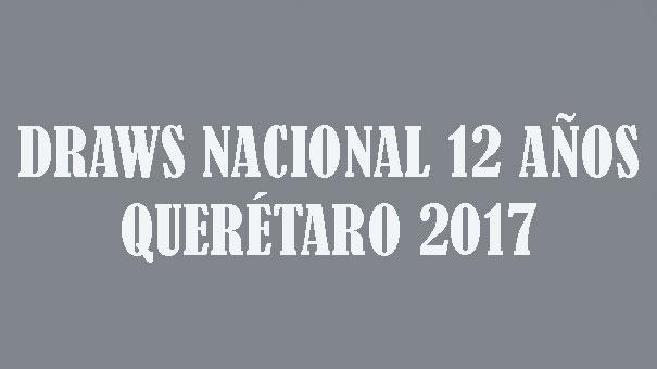 DRAWS NACIONAL 12 AÑOS CAMPESTRE DE QUERÉTARO