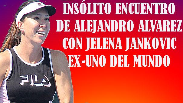 JELENA JANKOVIC UNO DEL MUNDO EN 2008 INTERCAMBIÓ PELOTAZOS CON ALEJANDRO ÁLVAREZ ZENITH