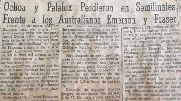 PONCHO OCHOA CUENTA SU HISTORIA EN ROLAND GARROS