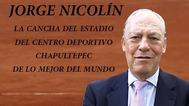 JORGE NICOLÍN AL PIE DEL CAÑON DÍAS ANTES DEL INICIO DEL ABIERTO JUVENIL MEXICANO