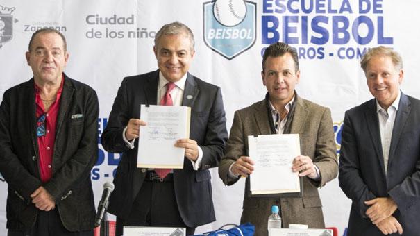 PABLO LEMUS Y GUSTAVO SANTOSCOY CERRARON CONVENIO CON CHARROS