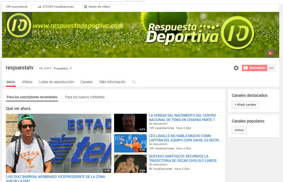 LOS VIDEOS DE RESPUESTATV TE PONEN AL DÍA DE LO QUE PASA EN EL TENIS MEXICANO