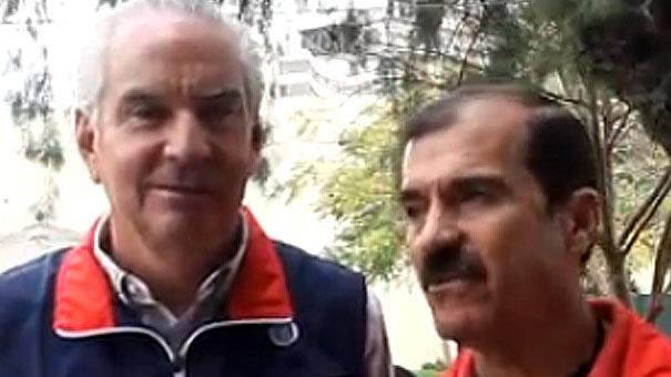 JUAN FRANCISCO VÁZQUEZ Y LUIS CARLOS GARCIBEL, LE PONEN HUMOR AL TENIS