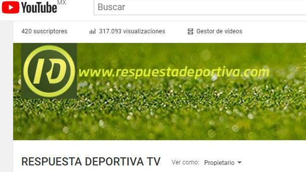 420 SUSCRIPTORES EN RESPUESTA DEPORTIVA TV YOUTUBE