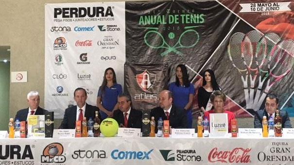 Invitan al Torneo de Tenis Atlas Colomos.