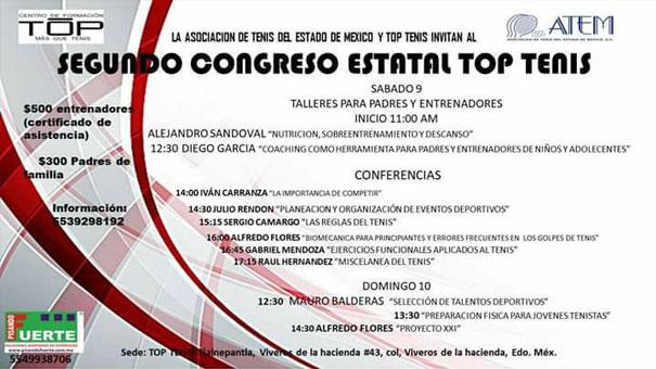 SEGUNDO CONGRESO ESTATAL TOP TENIS