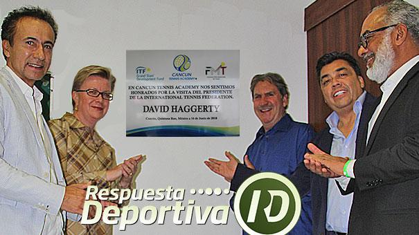 David Haggerty fue reconocido por Cancun Tennis Academy