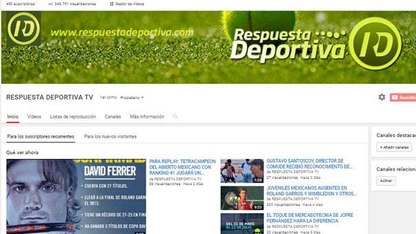 RESPUESTA DEPORTIVA TV LLEGA A 348 MIL 791 VISUALIZACIONES ESTE PRIMERO DE JUNIO.