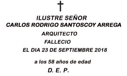 FALLECIO DON CARLOS RODRIGO SANTOSCOY ARREAGA