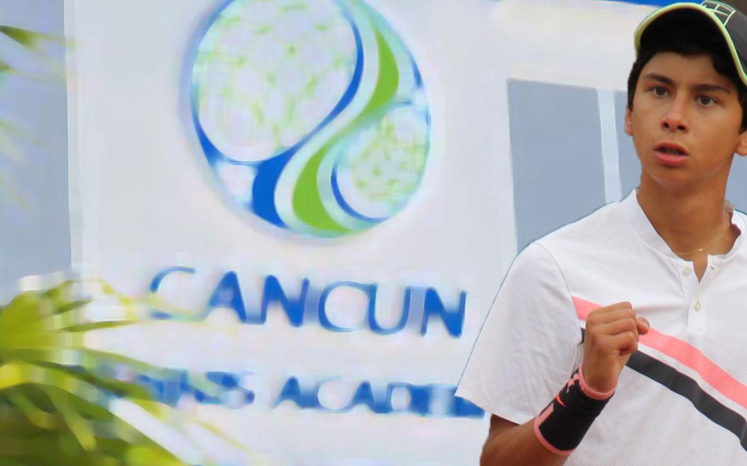ALAN GONZÁLEZ VA DE UNO AL CAMPEONATO DE MÉXICO EN CANCUN TENIS ACADEMY