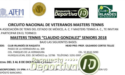MASTER TENIS CLAUDIO GONZÁLEZ SENIORS