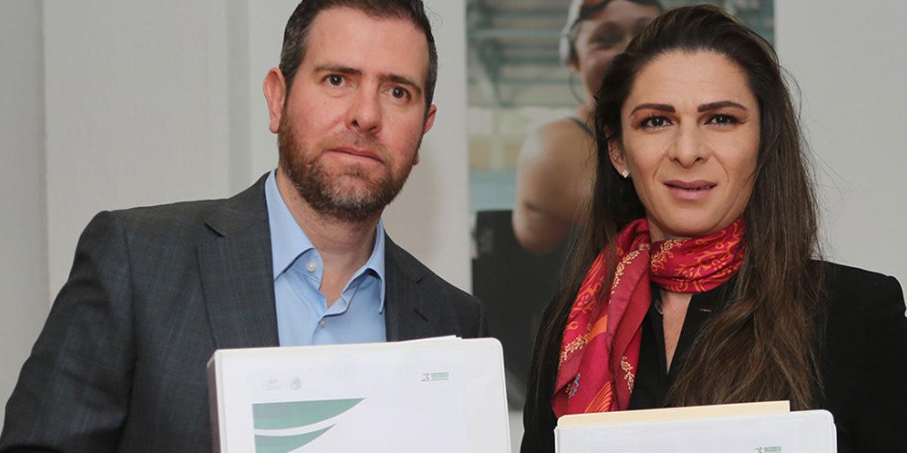 FIRMA ANA GABRIELA GUEVARA ACTA DE ENTREGA-RECEPCIÓN DE LA CONADE