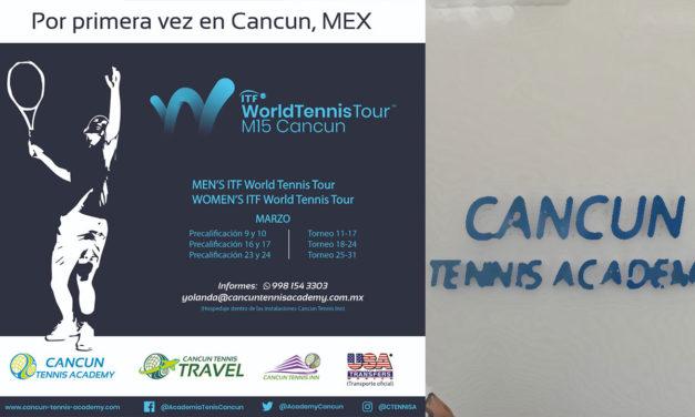 PAR DE CENTENARES DE JUGADORES INTERESADOS POR EL ARRANQUE DEL WOLRD TENNIS TOUR EN CANCUN TENNIS ACADEMY