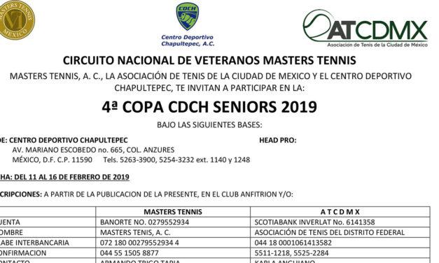 CONVOCATORIA CUARTA COPA CDCH 2019