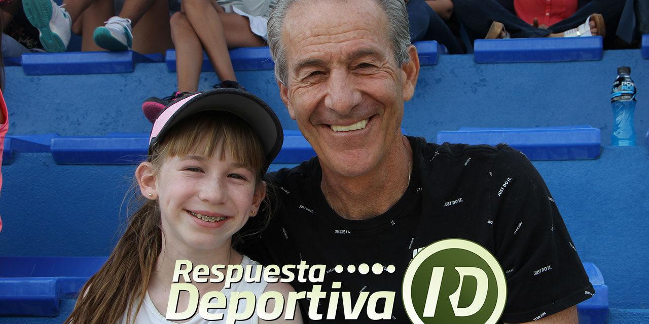 JORGE BERMAN EN EL NACIONAL DISFRUTA DEL TENIS DE SU NIETA