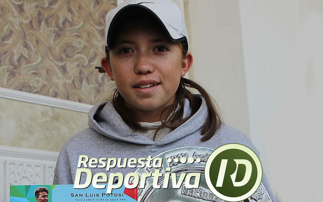 NACIONAL DE SLP: MARÍA FERNANDA MARTÍNEZ GANO TODAS LAS BATALLAS EN DOS SETS