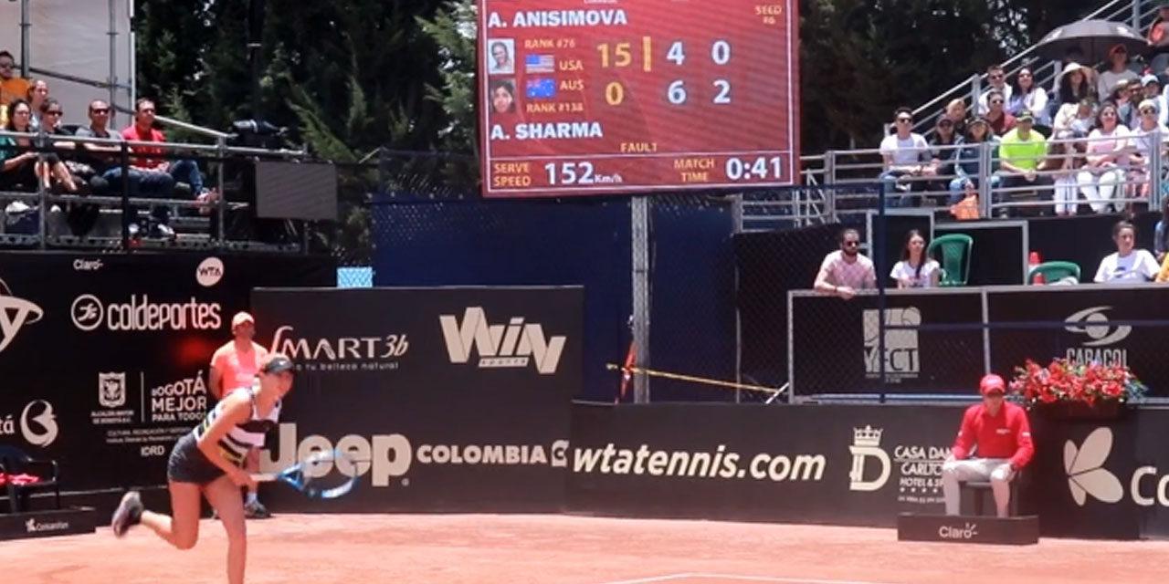 JAIME CORTÉS FELIZ DEL ÉXITO DE PUPILA AMANDA ANISIMOVA EN EL WTA DE BOGOTÁ