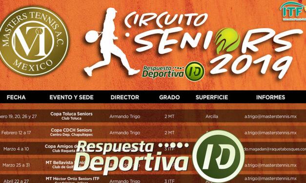 CALENDARIO CIRCUITO SENIORS MÉXICO 2019