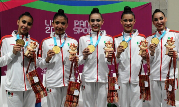 Oro histórico en gimnasia rítmica de conjuntos en Lima 2019