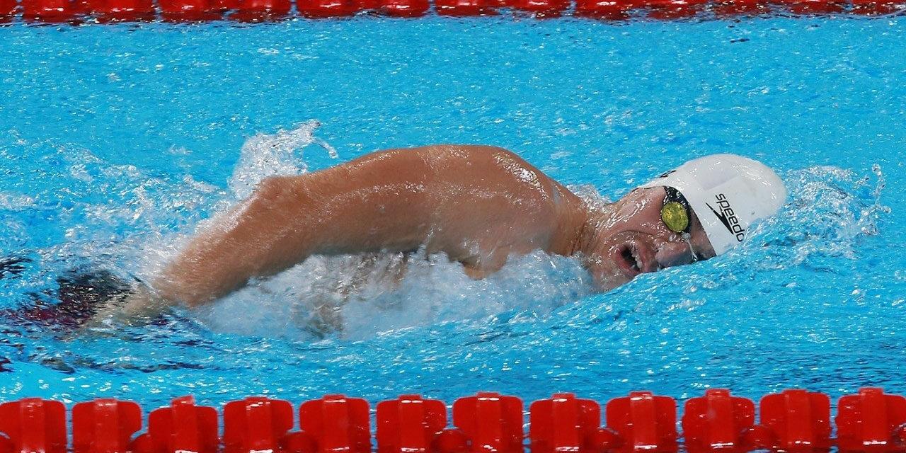Llega Diego López a cuatro medallas de oro en la para natación de Lima 2019