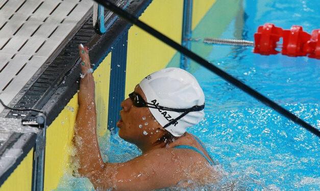 Logran Gustavo Sánchez y Matilde Alcázar títulos continentales en la para natación de Lima 2019