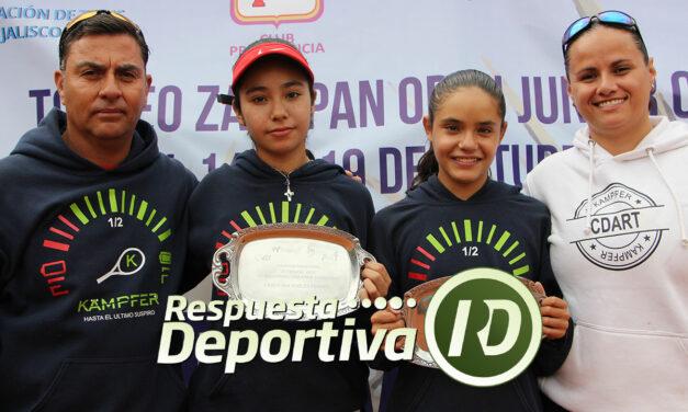 ANA PAULA CHÁVEZ Y KAREN VERDUZCO CAMPEONAS ABSOLUTAS DE LA COPA ZAPOPAN PROVIDENCIA