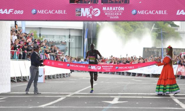 Kiprotich Kirui y Mamitu Daska imponen nuevas marcas en la Maratón de Guadalajara.