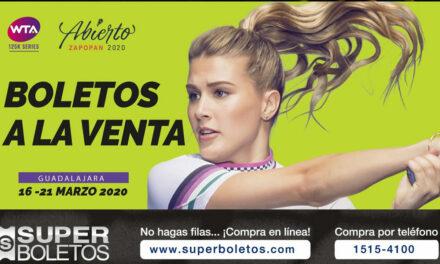 A LA VENTA LOS BOLETOS DEL WTA DE ZAPOPAN 2020