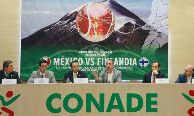 CONADE: Presentan serie Copa Davis México ante Finlandia