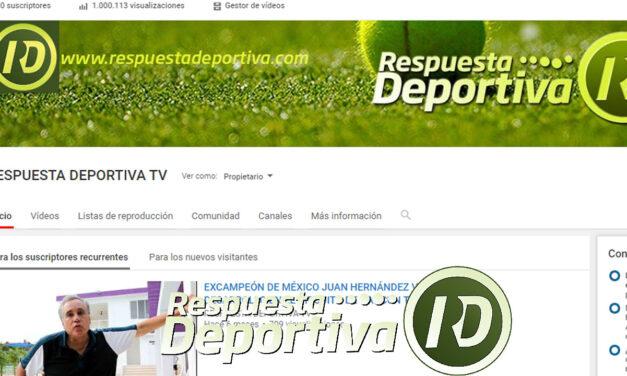 RESPUESTA DEPORTIVA TV LLEGÓ AL MILLÓN DE VISUALIZACIONES DE FORMA ORGÁNICA